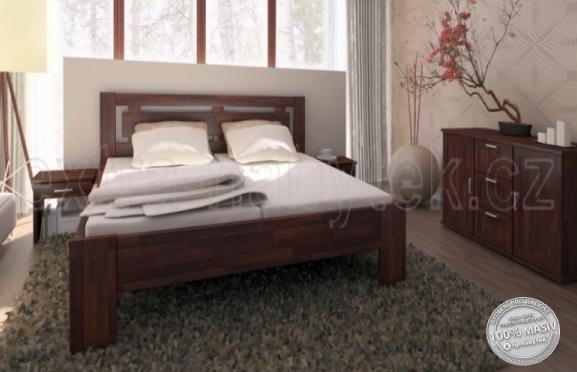 Moderní postel masiv